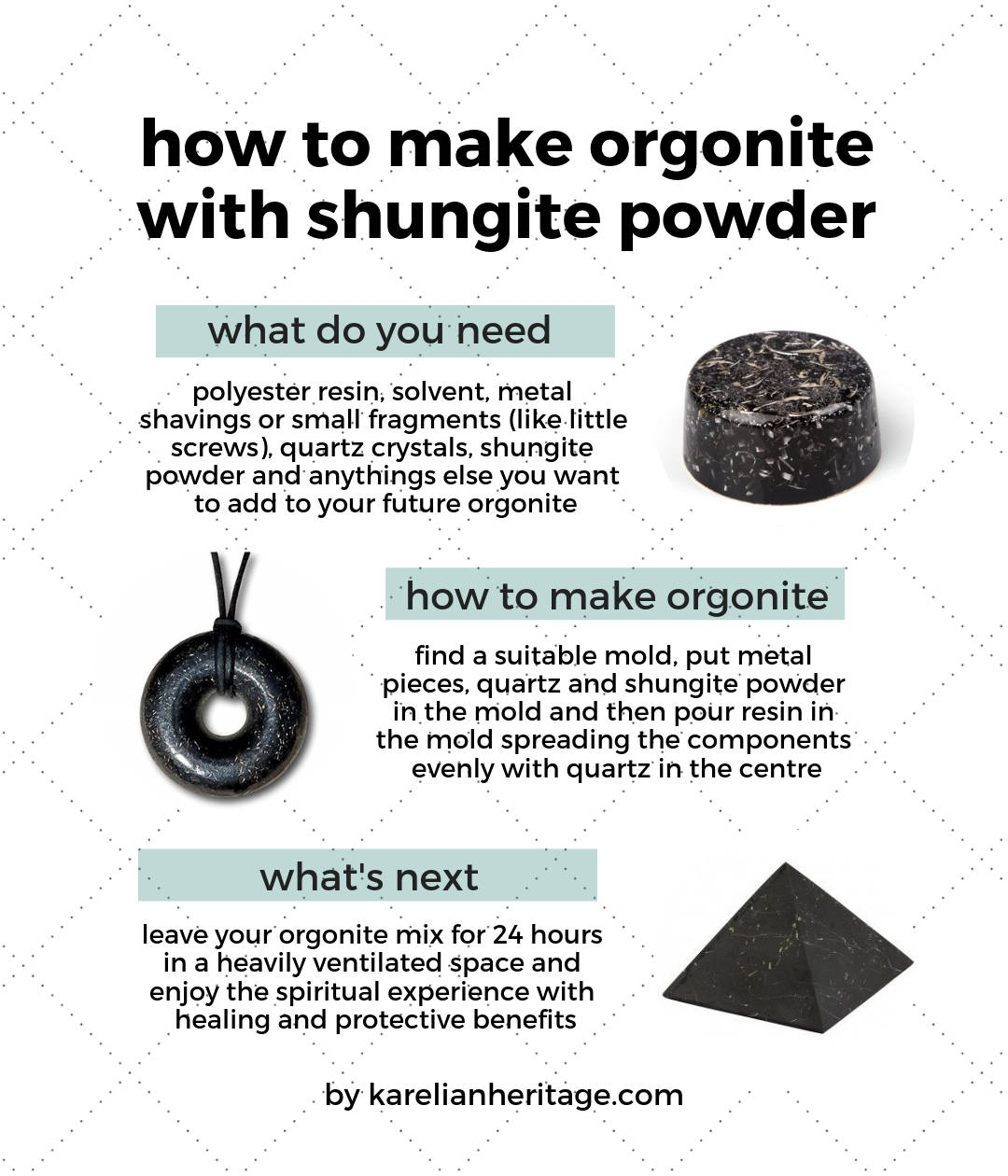 What is orgonite and its properties? How to use shungite
