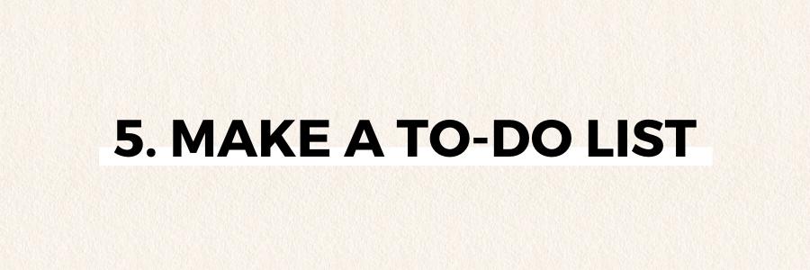 make-a-to-do-list