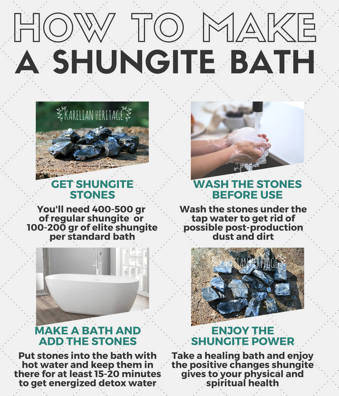 Water Chips Healing Shungite Bath How To Make It