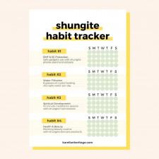 Enjoy shungite healing with shungite habit tracker!
