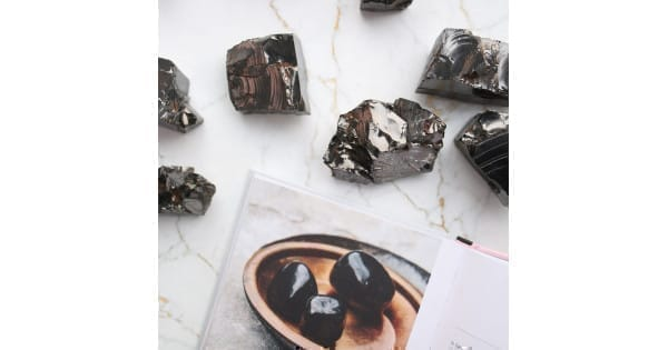 Shungite emf paint and shungite tile for your home
