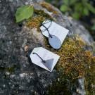 Minimalist shungite protective pendant for men