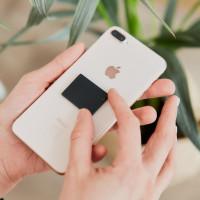 Rectangular shungite phone plate 30*40 mm (1,6*1,2*0,2 inches)