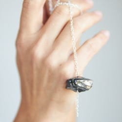 Elite shungite necklace on a chain with a big nugget