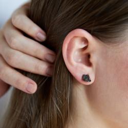 Elite shungite stud earrings