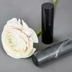 Polished shungite healing rods (shungite and soapstone/talkohlorit)