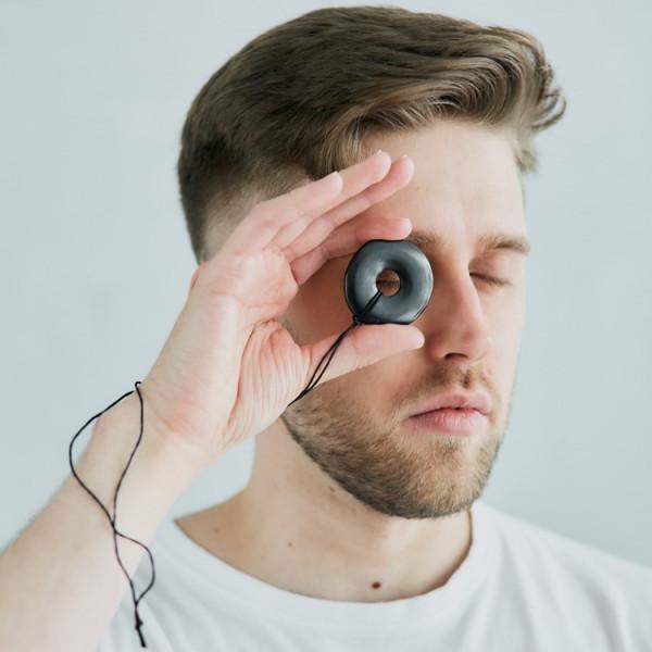 Shungite polished black pendant