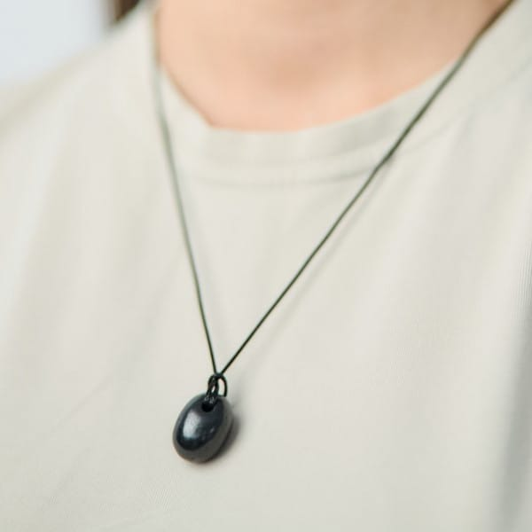 Drop shungite pendant for EMF protection