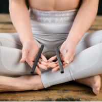 Shungite massage and meditation sticks set