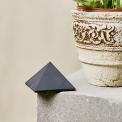 50 mm Non-polished shungite pyramid