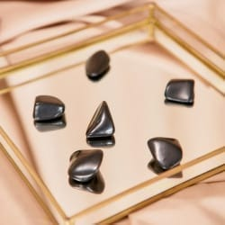 Shungite tumbled stones from Russia 2-4 cm 190 grams