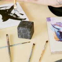 70 mm Non-polished Shungite and Quartz Cube