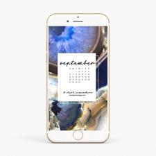 Crystal Phone Wallpaper & September 2020 Calendar by Karelian Heritage