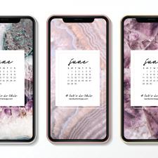 Crystal Phone Wallpaper & June 2020 Calendar by Karelian Heritage