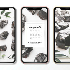 Crystal Phone Wallpaper & August 2020 Calendar by Karelian Heritage