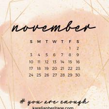 Crystal Phone Wallpaper & November 2019 Calendar by Karelian Heritage