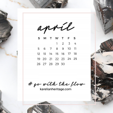 Crystal Phone Wallpaper & April 2020 Calendar by Karelian Heritage
