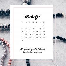 Crystal Phone Wallpaper & May 2020 Calendar by Karelian Heritage