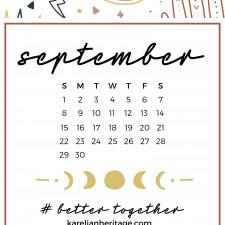 Crystal Phone Wallpaper & September 2019 Calendar by Karelian Heritage