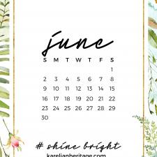 Crystal Phone Wallpaper & June 2019 Calendar by Karelian Heritage