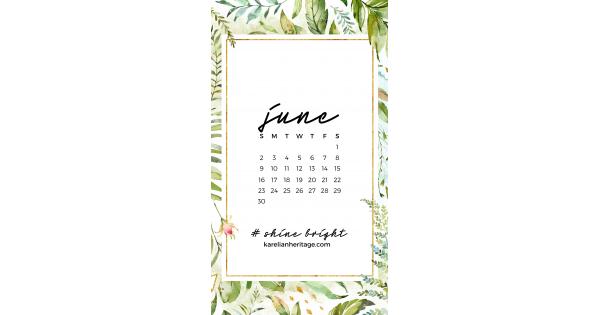 Crystal Phone Wallpaper & June 2019 Calendar by Karelian