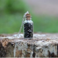 Necklace with an elite shungite crystal bottle
