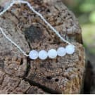 Moonstone crystal healing necklace