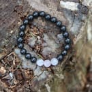 Shungite and moonstone chakra bracelet