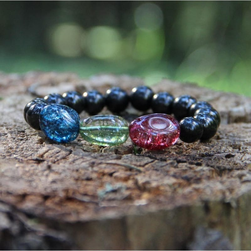Buy real shungite crystal healing bracelet with tourmaline