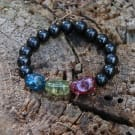 Shungite crystal healing bracelet with tourmaline tumbled beads