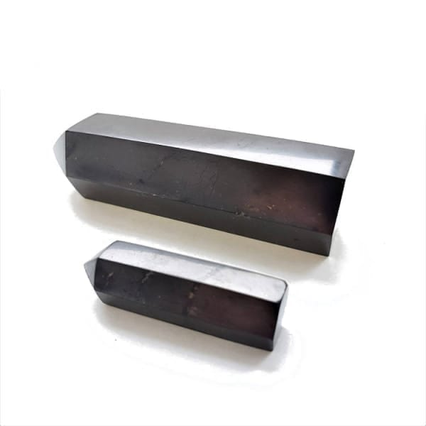 Protective polished shungite points set