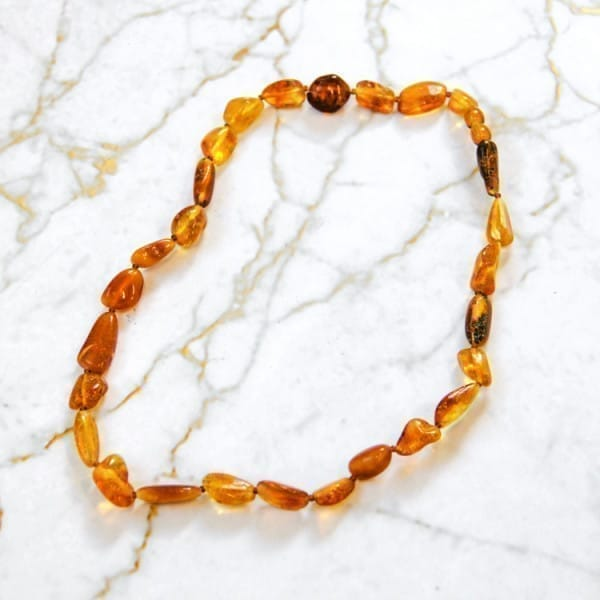 Baltic Amber Necklace with Tumbled Beads