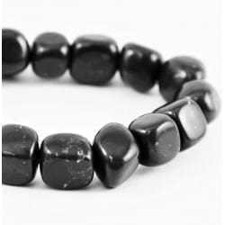 Tumbled shungite cubic 12 mm beads 50 pieces set