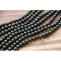 Shungite crystal beads 50 pieces 10 mm