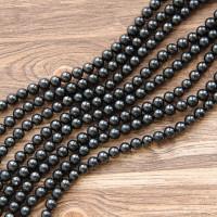 Black shungite stone beads 50 pieces 8 mm