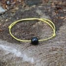Simple shungite string protective bracelet