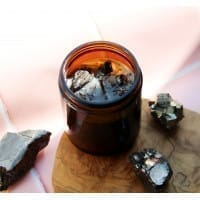 Crystal Candle with Shungite Powder and Essential Oils