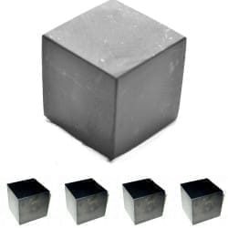 Shungite cubes wholesale set  - 5 pieces directly from Russia