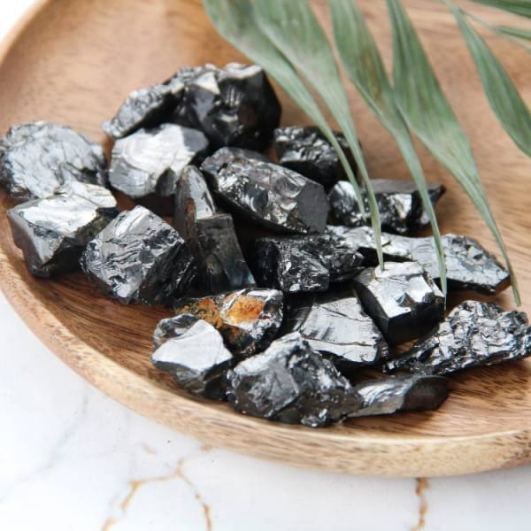 Silver elite shungite stones 100 grams (5-15 grams each)