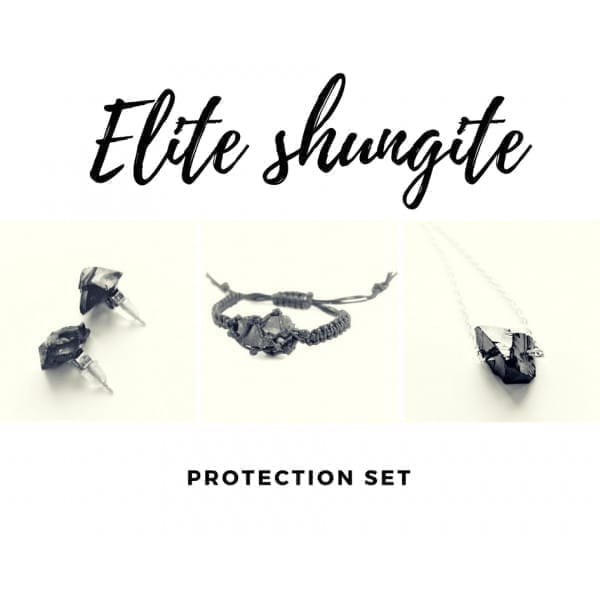 Elite shungite jewelry protection set