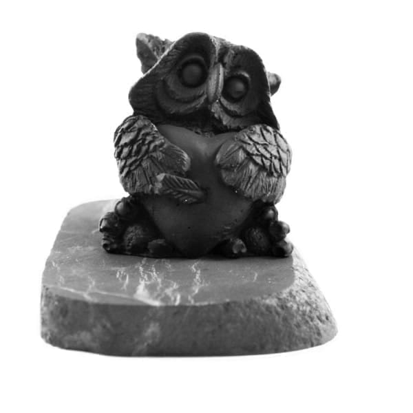"Shungite figurine ""Owl in Love"""