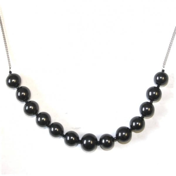 """Shungite necklace """"Muse"""" on a chain"""