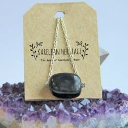 Shungite necklaces on a chain