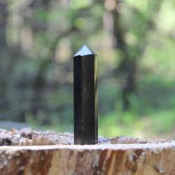 Karelian shungite wand for chakra balancing and crystal healing