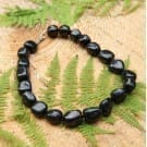 Shungite necklace with tumbled beads