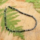 Shungite EMF protection necklace with cubic beads