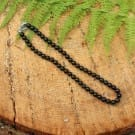 Shungite necklace with round 8 mm beads