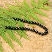 Shungite beads 6 mm 10 pieces