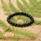 Shungite bracelet for children  with 10 mm beads on elastic band 14 cm (5.5 inches)