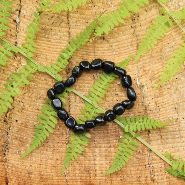 Petrovsky shungite bracelet with big beads in natural shape